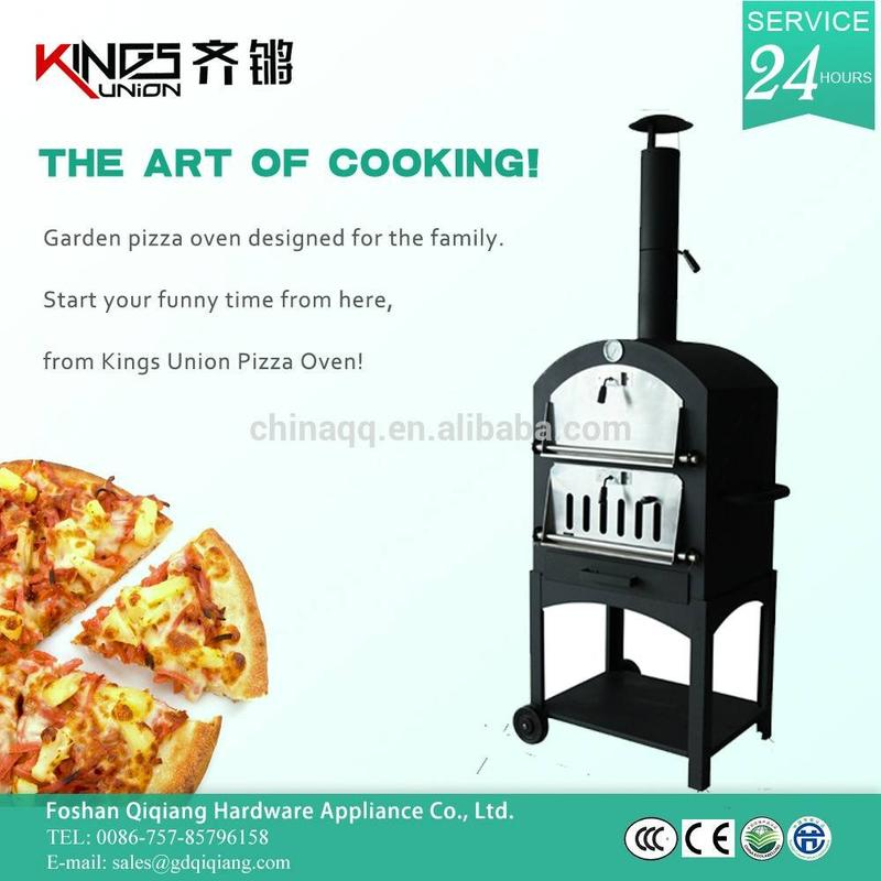 Charcoal Metal Outdoor Pizza Oven With BBQ SM-002B