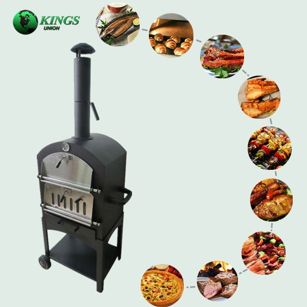 Charcoal Metal Outdoor Pizza Oven With BBQ